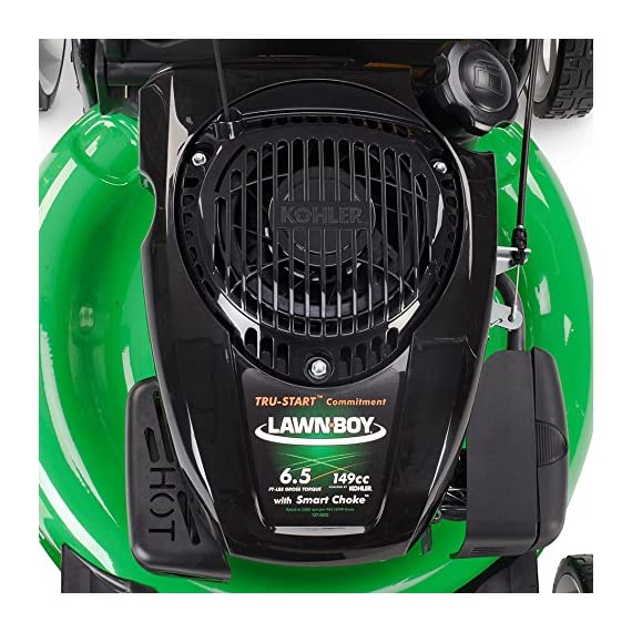Lawn-Boy 17734 21-Inch 6.5 Gross Torque Kohler Electric Start XTX OHV, 3-in-1 Discharge Self Propelled Lawn Mower 6 Electric start is the easiest way to start your mower; just turn the key and mow 2-Point Height-of-Cut System allows you to quickly adjust cutting heights from one side of the mower 3 year Tru-Start Commitment - starts with 1 or 2 pulls or Lawn-Boy will fix it for free