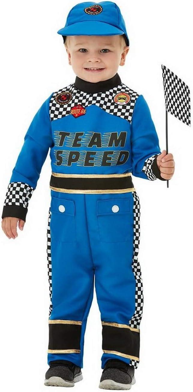 Halloweenia Disfraz de piloto de Carreras para niños, Mono, Gorra ...