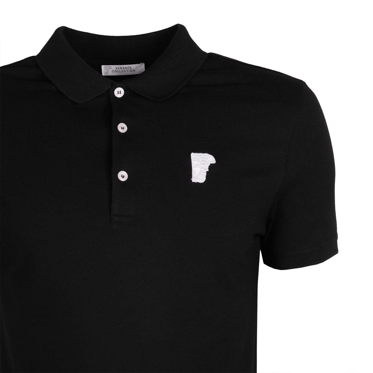 Versace Collection V800499S VJ00068 V000 Camisa polo Negro Black ...