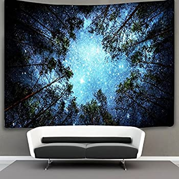 THEE Tree Forest Wall Hanging Tapestry Bedspread Throw Blanket Home Room Wall Decor