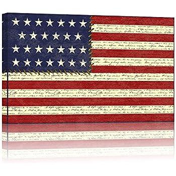 Amazon Com Large 24 Quot X36 Quot America Flag Canvas Wall Art