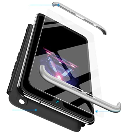 xinyunew Funda Huawei Honor 8X,360 Grados Protección Case + Pantalla de Cristal Templado,