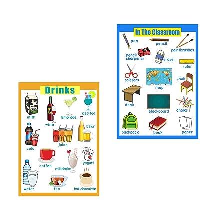 PETSOLA Aula Y Bebidas ~ Tabla De Carteles De Aprendizaje ...