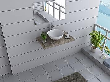 Design Badmöbel Set AUSTRALIA Brisbane Waschtisch 80 cm breit inkl ...