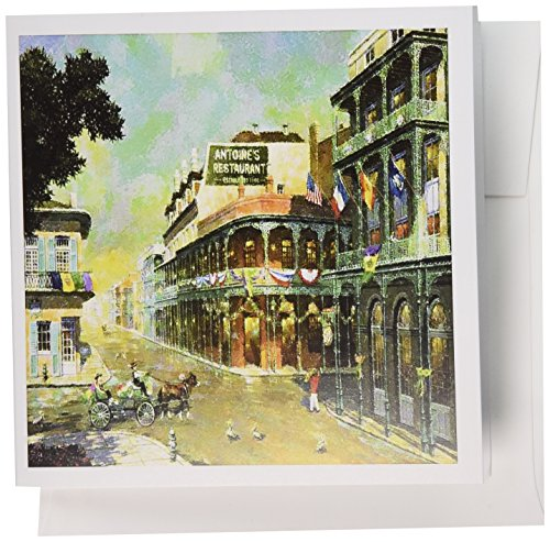 3dRose Painting Of New Orleans Just Before Mardi Gras - Greeting Cards, 6 x 6 inches, set of 12 (gc_80614_2) (Wedding Invitations Gras Mardi)