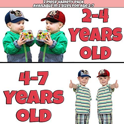 Disney Little Boys Assorted Character Cotton Baseball Cap, 2 Piece Design Set, Age 2-7 (Toddler Boys – Age 2-4 – 51 cm, Mickey Mouse Design – 2 Piece Set) by Disney (Image #1)