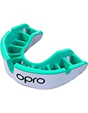 OPRO Gold Level Adult Mouthguard – Custom Fit Gum Shield for Rugby, Hockey, MMA, Contact Sports – Dental Care, Impact Resistant Outer Layer, Anatomical Fins, Enhanced Gel Inner Channel