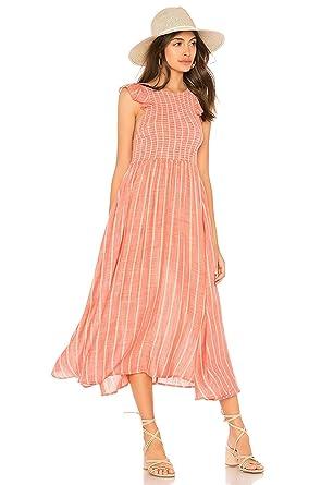 4f39e5a46a70 Free People Chambray Butterflies MIDI Dress L at Amazon Women s ...