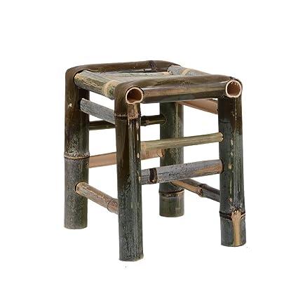 Heruai Silla de taburete de bambú Chino retro adulto banco pequeño ...
