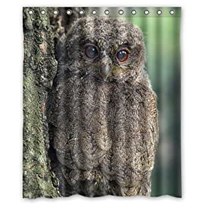 Cool Camo camouflage cute funny Owl shower curtain 60x72 inch