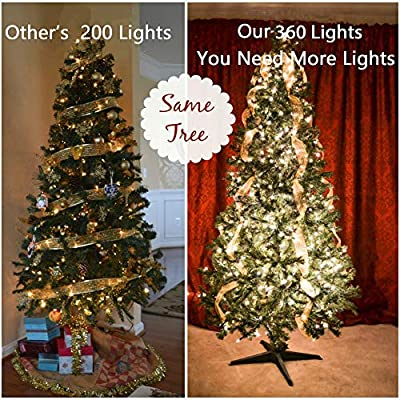 29V LED Christmas String Lights Outdoor Tree Lights 134Ft 360LED UL Certified End-to-End Plug, 8 Modes Waterproof Outdoor Indoor Fairy Lights for Christmas Tree, Patio, Wedding, Party(Warm White) : Garden & Outdoor