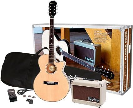 Epiphone PR-4E paquete de guitarra electroacústica: Amazon.es ...