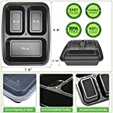 Meal Prep Containers 3 Compartment with Lids BPA