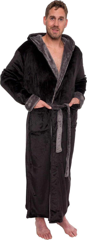 Full Length Big /& Tall Bathrobe Ross Michaels Mens Hooded Long Robe