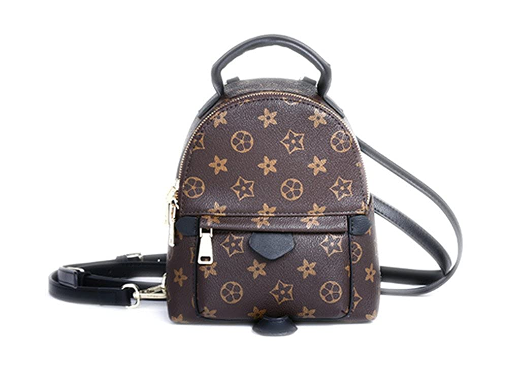 Sharon Monogram Canvas Palm Springs Backpack Mini Handbag