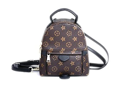 02ade9435 Amazon.com: Sharon Monogram Canvas Palm Springs Backpack Mini Handbag: Shoes