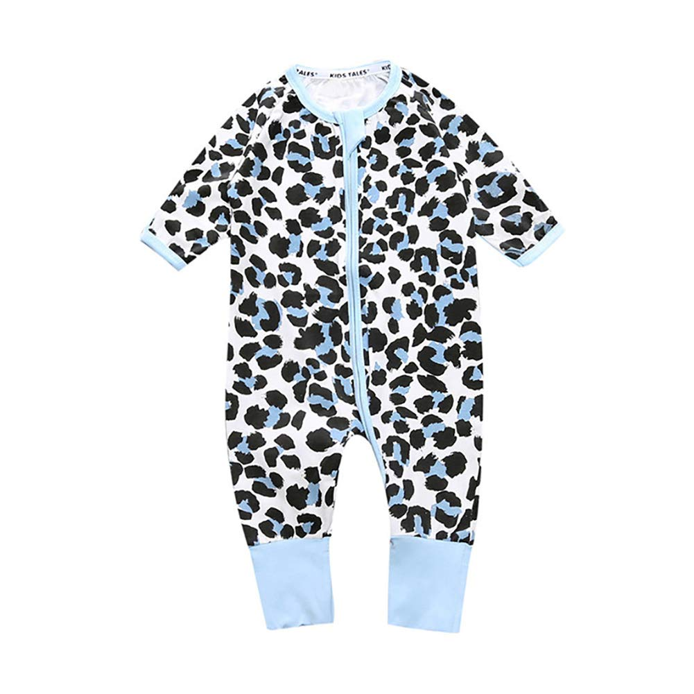 frigidssm Lovely Baby Infants Spring Autumn Flower Printing Long Sleeve Romper Jumpsuits Clothes