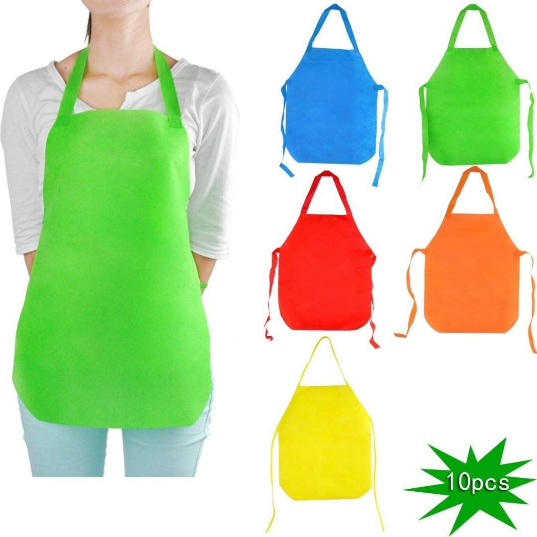 YazyCraft Young Picasso Artist s Painting Apron 10 pcs assorted color