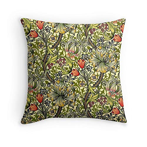 William Morris Golden Lily for Sofa Couch Living Room Bed Decorative