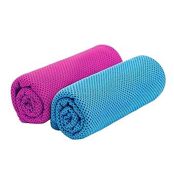 Toalla Fitness para Alivio Instantáneo,Uso como Enfriamiento del Cuello Venda Pañuelo Bufanda Estancia Fresco