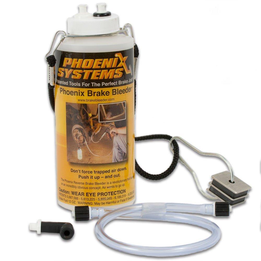 Phoenix Systems 7002-B One-Man Brake Bleeder Capture Bottle With Quick Adapter