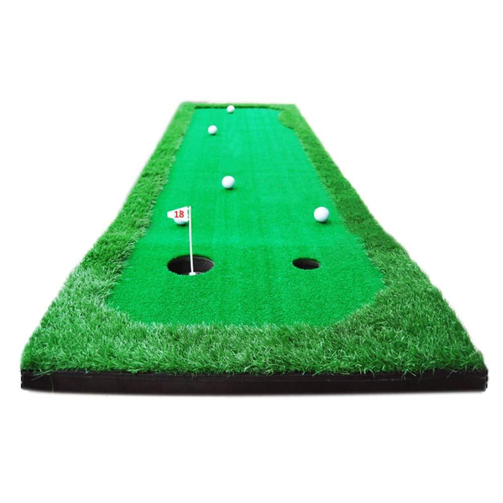 パッティングマット ゴルフパットプラクティスマット、ポータブルドライビング、チッピング、トレーニング援助、家庭用裏庭&屋内練習場用機器(2.5ftx10ft) (色 : With putter)  With putter B07M8GBRTJ