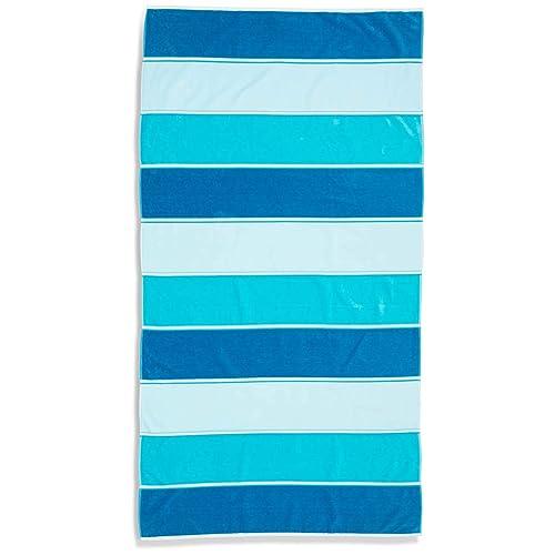 Caro Home Maya Beach Towel (Aqua) - 100% Cotton Premium Quality X-
