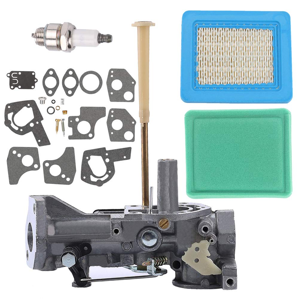 Fuel Li 498298 Carburetor + 491588 Air Filter Kit for Briggs & Stratton 1134 112202 112212 112231 Engine Replace 495951 by Fuel Li