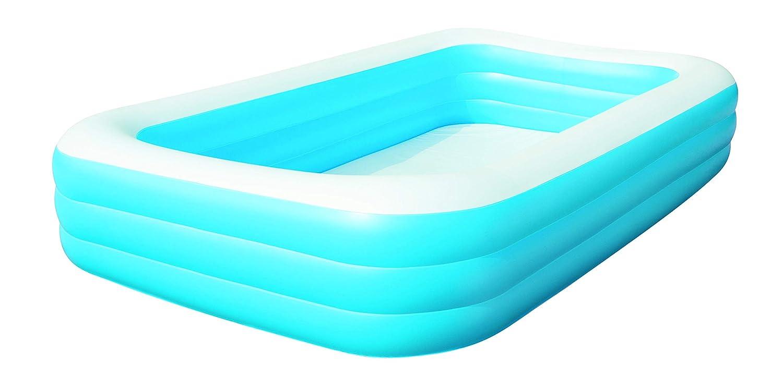 Bestway 54009 Piscina Hinchable Rectangular Deluxe, Blue, 305cm x ...