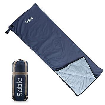 Sable - Saco de dormir, rectangular, para excursionismo, aCampada, Senderismo, Escalada y Actividades En Exteriores, azul: Amazon.es: Deportes y aire libre