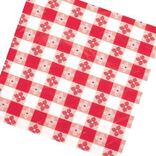 Winco TBCO-70R Checkered Table Cloth, 52-Inch x 70-Inch, Red, Set of 3