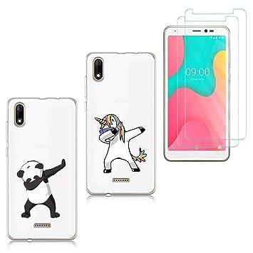 50% off discount reputable site 2 X Coque pour Wiko Y60 2019 / Sunny 4 Plus,Panda + Licorne Souple Silicone  TPU Housse Étui de Protection pour Wiko Y60 2019 (5,45