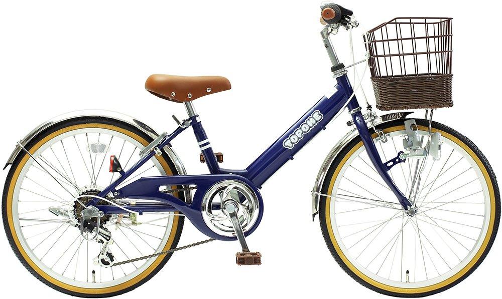 TOPONE 子供用自転車 20インチ 前かご付 シマノ6段変速ギア ステンレス泥除け シティサイクル キッズサイクル ジュニアサイクル 男の子 女の子 こども用 NV206-NB ネイビー 紺色   B018LV4I0M