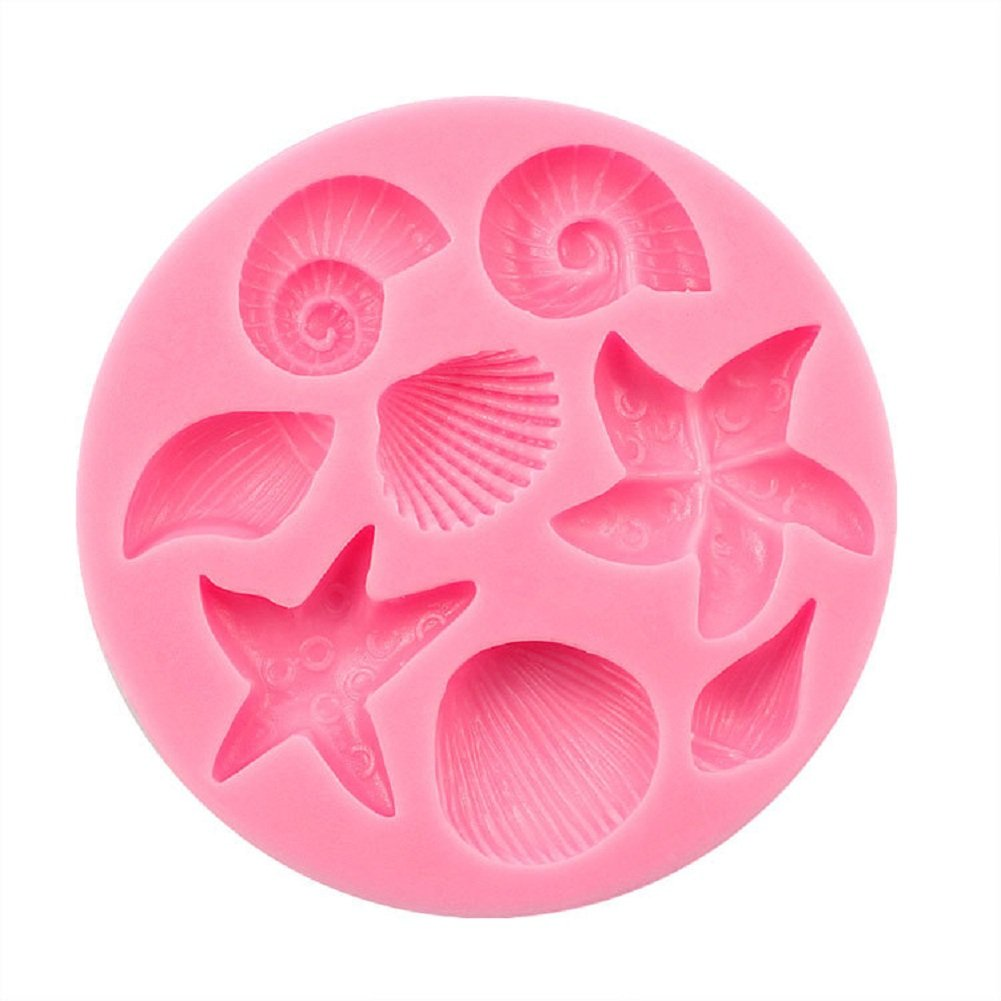 gespout Various Shells Cake Cookie Chocolate Soap Jelly Silicone Baking Mould Non-Stick Kitchen Cooking Tool