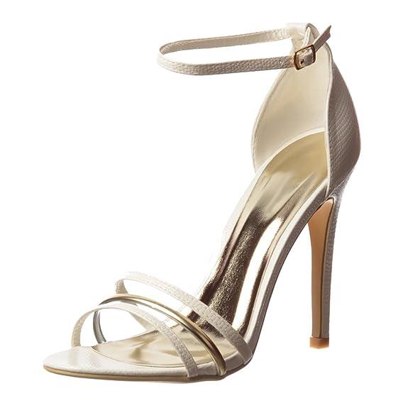 2 opinioni per Dettaglio Di Cinturino Oro Di Onlineshoe Delle donne Caviglia Metà Tacchi