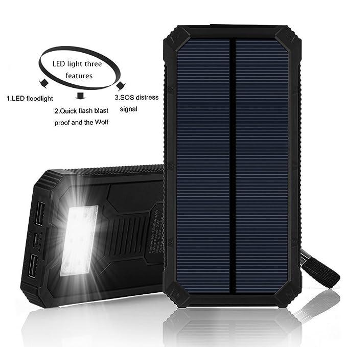 Cargador solar 20000 mAh Banco de la energía, cargador de batería ...