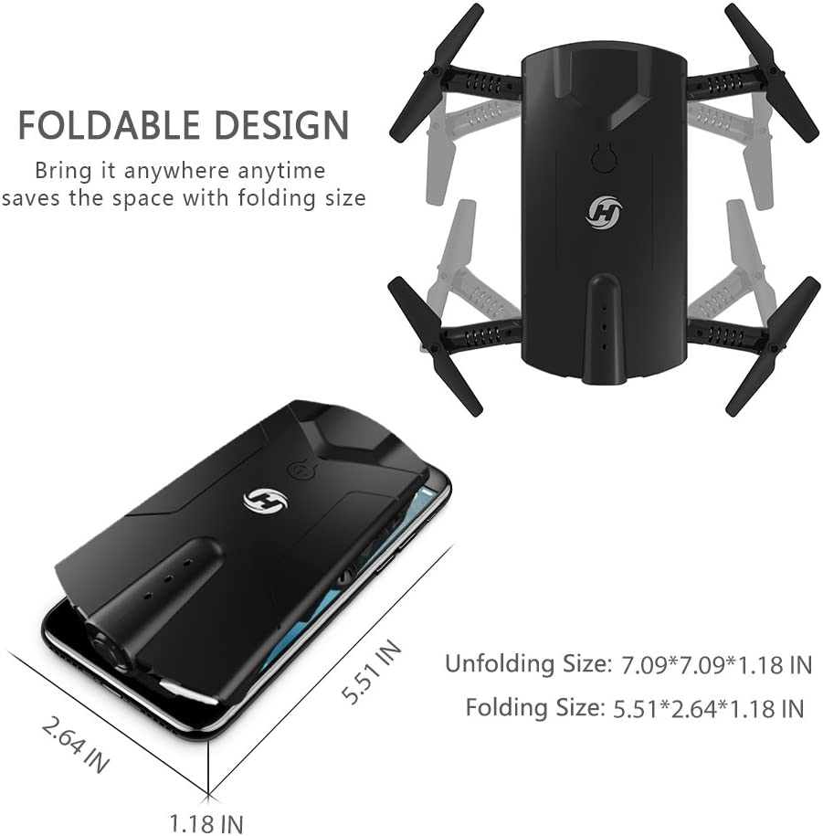 Holy stone hs160 mini foldable drone is at #13 for best nano quadcopters