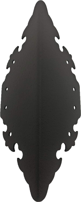 RMP Decorative Raised Bed Corner Brackets - Black (9 Inch)