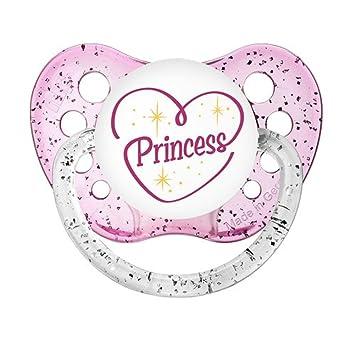 Ulubulu Expressions Pacifier Princess Glitter Pink (6-18M)