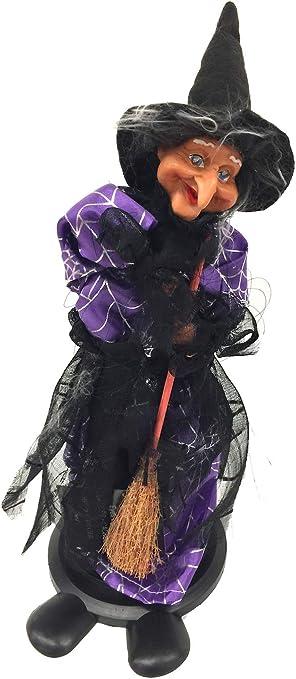 World-Accents Disfraz de Bruja Animada de Halloween activada por ...