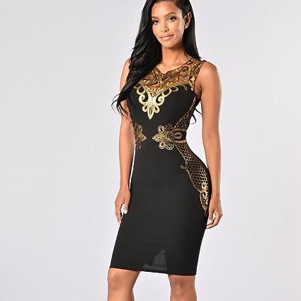 bd60ffe84a4 Amazon.com  Women Dress Daoroka Ladies Sexy Backless Bodycon Casual Work  Wear Long Sleeve Cocktail Party Elegant Skirt (M