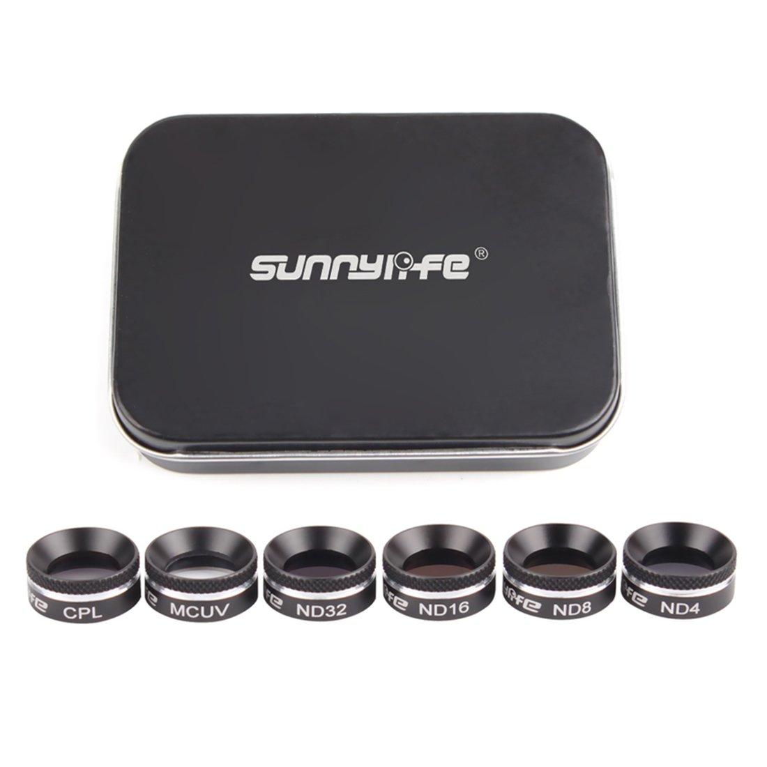 Foxom Sunnylife 6 Pezzi Filtri Lente Filtro Kit per DJI Mavic Air - MCUV CPL ND4 ND8 ND16 ND32