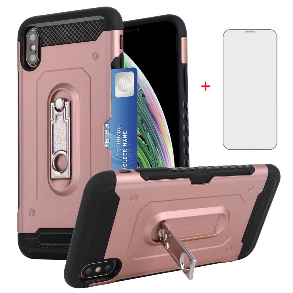 6ee2490e6532 iPhone XR Wallet i Phone Case 6.1 with Tempered Glass Screen ...