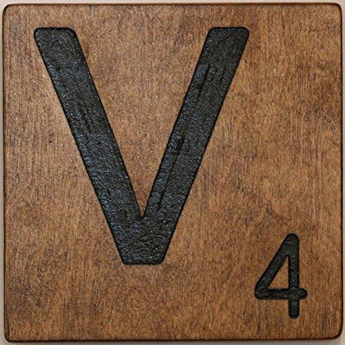 Large Scrabble Letter Tile (4 x 4 Medium, V)