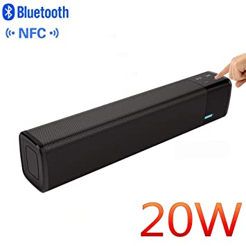 Altavoz Bluetooth 20W,Unicview 1000s con potentes Graves Estéreo Altavoces Inalámbrico,Altavoz Portátil Subwoofer, Manos Libres, batería de Gran Capacidad ...