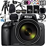 Nikon COOLPIX P900 Digital Camera with 83x Optical Zoom and Built-In Wi-Fi (Black) + Ultimate 96GB Accessory Kit. Includes 2X SanDisk Ultra Memory Cards + Wide Angle & Telephoto Lenses + MUCH MORE