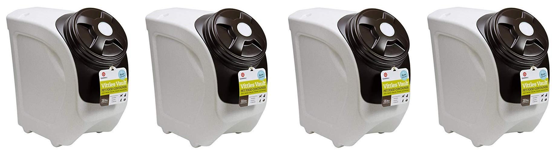 Vittles Vault 4318 Home Stackable Airtight Pet Food Storage Container, 18 lb, Mocha Granite (Fоur Расk)