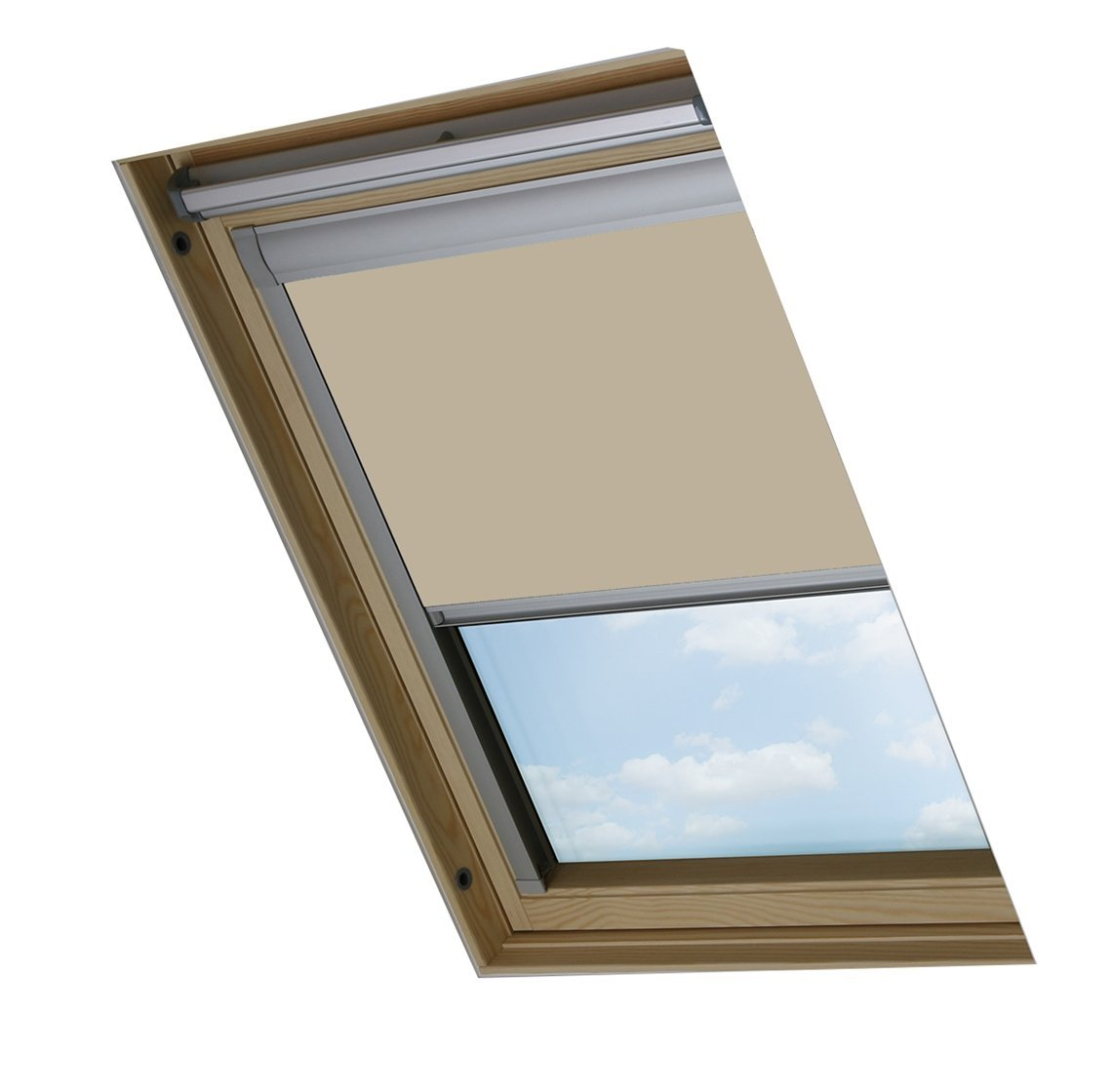 bloc dachfenster rollo s06 f r velux dachfenster blockout creme ebay. Black Bedroom Furniture Sets. Home Design Ideas