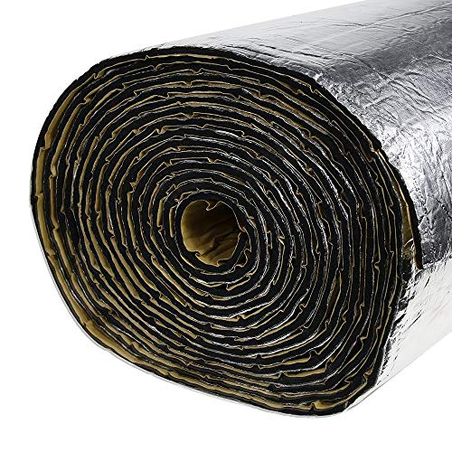 SHINEHOME 236mil Car Heat Shield Sound Deadener Heat Insulation Mat Noise Proof Insulation Mat Heat Protector Mat 40 inches x 118 inches 32.30sqft ()