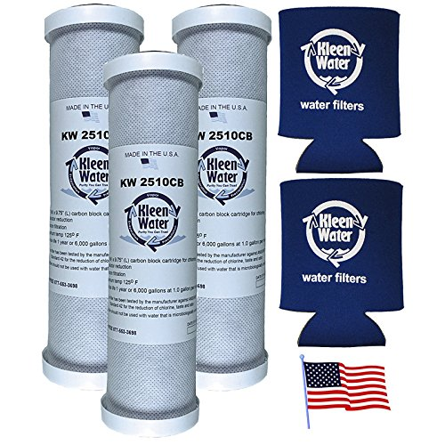 32-250-125-975, CBC-10, PWCB10S, EP-10, WHEF-WHWC and 34370 Compatible Water Filter Cartridges by KleenWater (3) with Genuine KleenWater Can Holders (2)